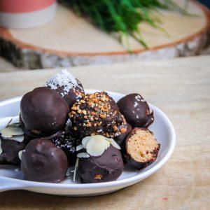 boules noix de coco et chocolat